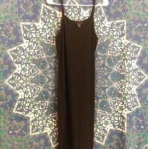 Primark ❤ Black Ribbed Body Con Midi Dress